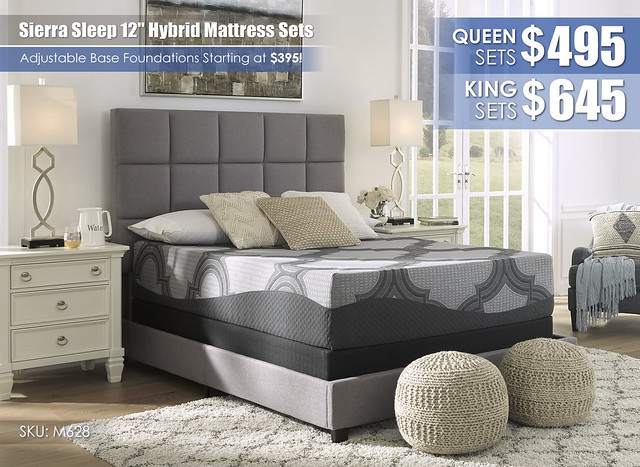 Sierra Sleep 12in Hybrid Mattress Set Special_M62831-M81X32