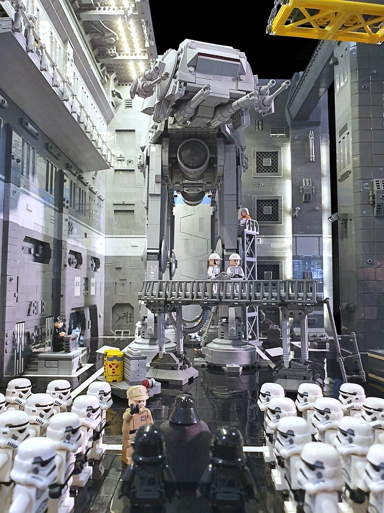 AT-AT Maintenance Hangar (custom built Lego model)
