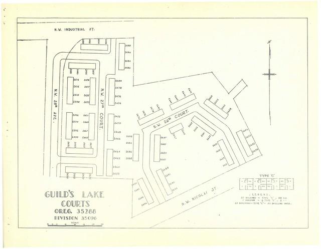 Plat maps of Portland, Oregon's war housing projects