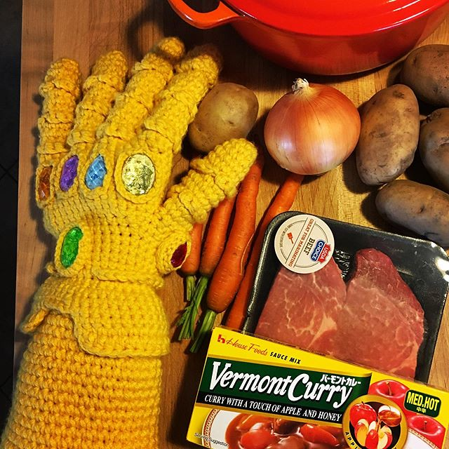 Watching Avengers Endgame tonight. Thanos demands Vermont Curry. #marvel #avengersendgame #vermontcurry