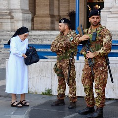 Nun and Soldiers