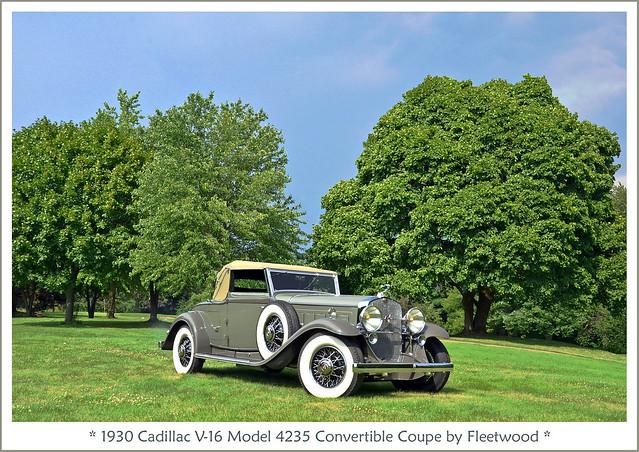 1930 Cadillac V-16 Model 4235 Convertible Coupe