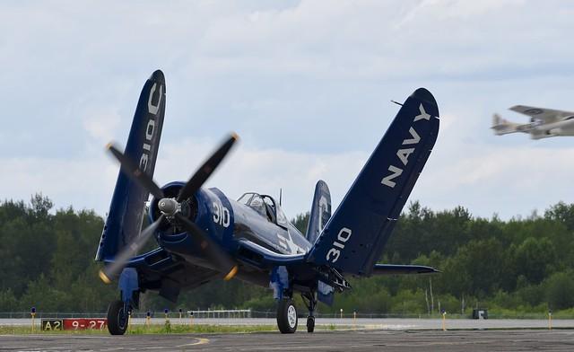 Vought F4U Corsair NX72378  Duluth Mn (DLH) 2019 Airshow