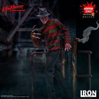 Iron Studios《半夜鬼上床》佛萊迪·庫格 Freddy Krueger 1/10 比例全身雕像作品 普通版/豪華版