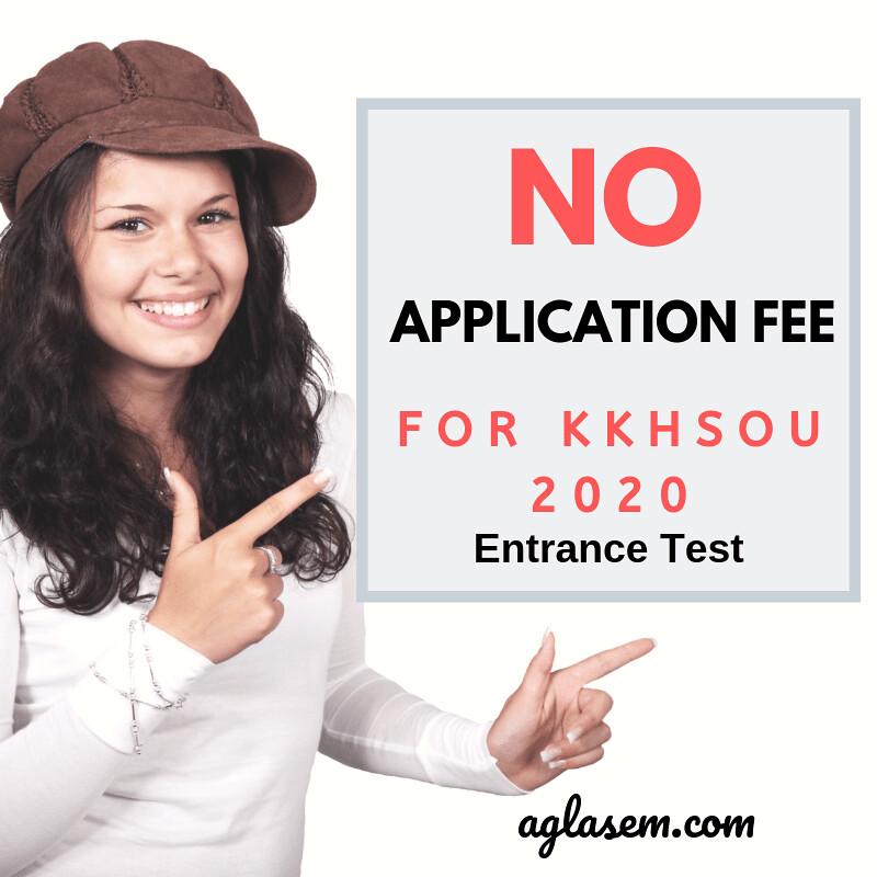 KKHSOU 2020 Application fee