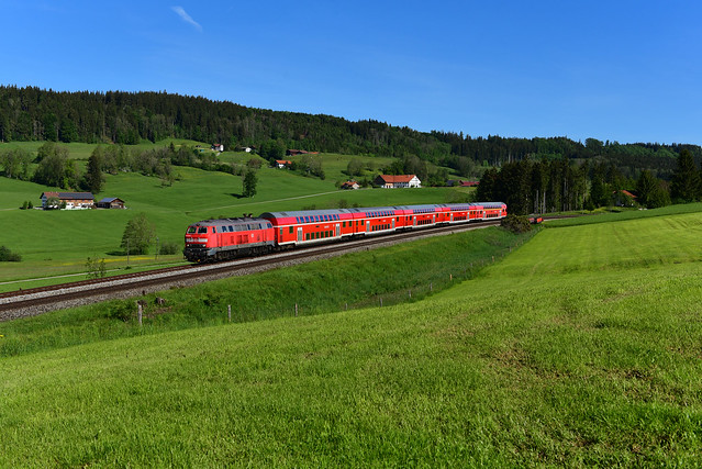 218 414-4 DB I Radlzug RE 57392 I Ellenberg (7948)