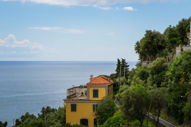 Lovely View from the Cliffside Village Positano, province of Salerno, the region of Campania, Amalfi Coast, Costiera Amalfitana, Italy