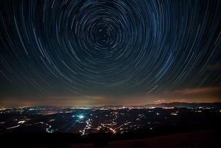 Startrail - Monte Subasio -