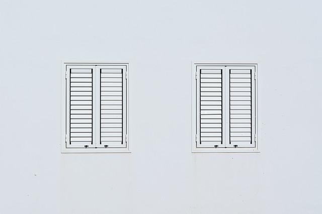 White windows, white wall