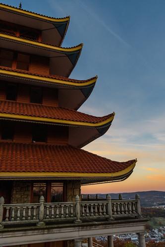sunrise dawn pagoda readingpa pennsylvania