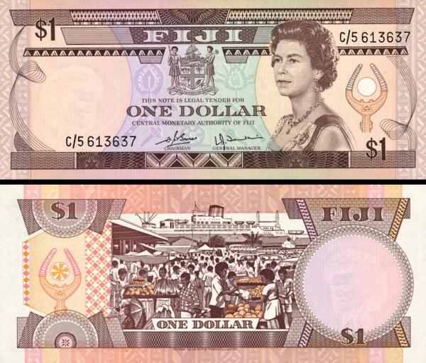 1 fidžijský dolár Fidži 1980, P76a