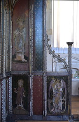 Ranworth screen (south side parclose): St Thomas of Canterbury, St Lawrence, St Michael