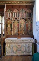 Ranworth screen: north side reredos and altar