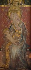 Ranworth screen: Holy Kinship, Blessed Virgin