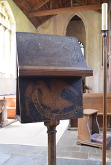 cantor's desk with eagle of St John