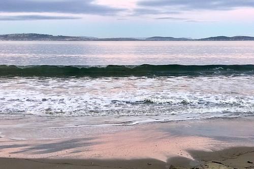 kingstonbeach beach sunset water derwentriver hobart tasmania wave river iphone7plus