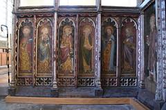 Ranworth screen (south side): St Paul, St John, St Philip, St James the Less, St Jude, St Matthew