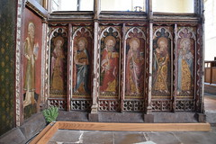 Ranworth screen (north side): St Simon, St Thomas, St Bartholomew, St James, St Andrew, St Peter
