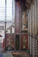 Ranworth screen (north side parclose): St George, St Felix, St Stephen