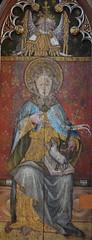 Ranworth screen: St Agnes repainted as St John the Baptist (II)