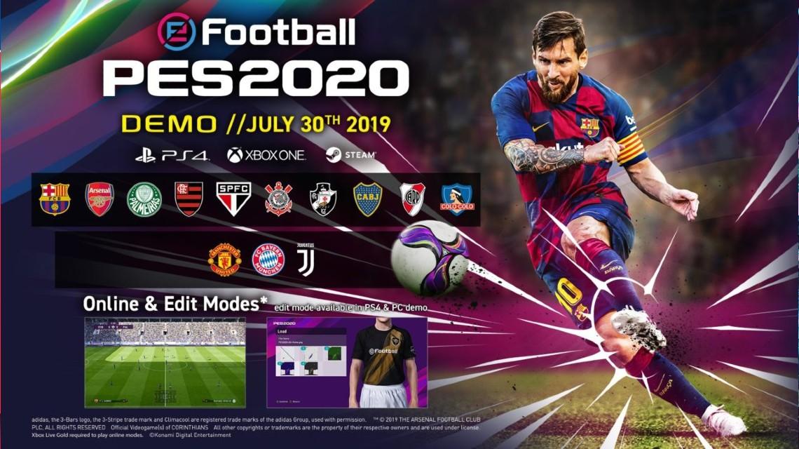 eFootball PES 2020 Demo yayınlandı