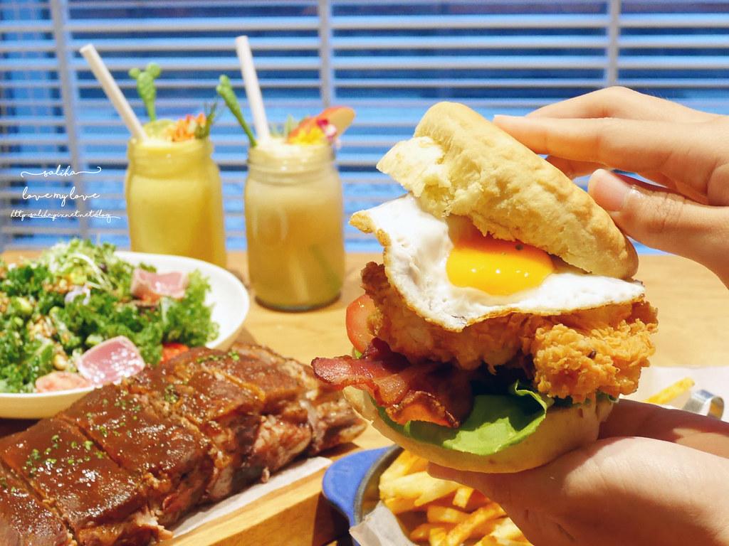 台北中山區中山北路Buttermilk摩登美式餐廳推薦沙拉輕食漢堡下午茶咖啡 (7)