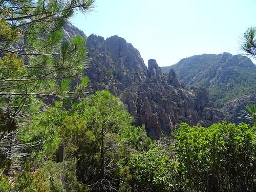 Depuis le chemin de la crête N de Punta Russa : Punta di Monte Sordu