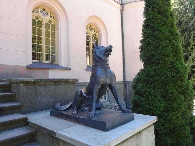 2.Jh.v.Chr. Binz Molosserhund Bronze vor Jagschloß Granitz bei 18609