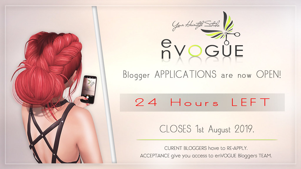 ? 24 Hours LEFT – Blogger Application is CLOSING ?