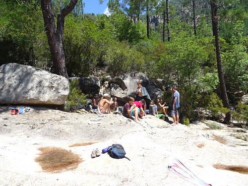 Vasques du Carciara : des hordes de randonneurs
