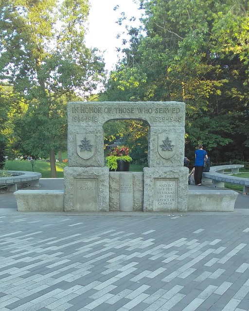 """In Honor Of Those Who Served"" #toronto #beaches #kewgardens #cenotaph #war"