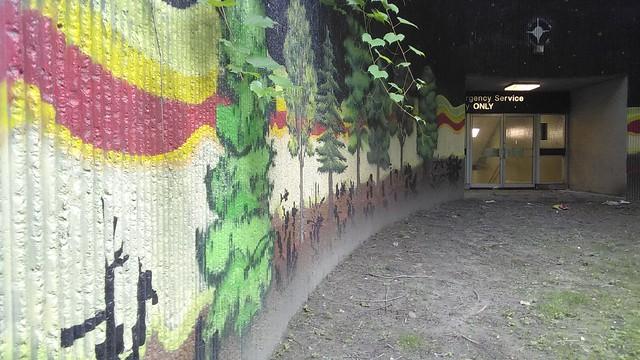 """Emergency Service Entry ONLY"" (2) #toronto #casaloma #nordheimerravine #stclairwest #forest #grass #publicart #mural"