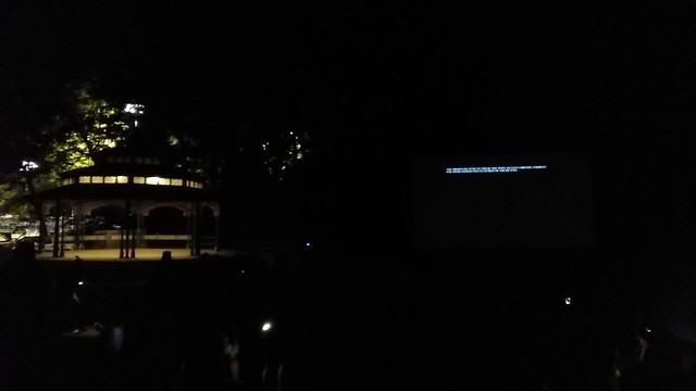 Gazebo and credits #toronto #kewgardens #beaches #gazebo #night #movie