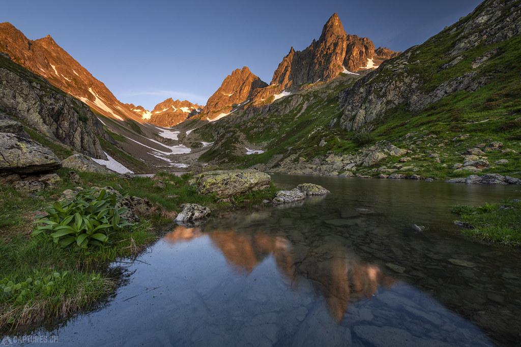 Glowing peaks - Nidersee