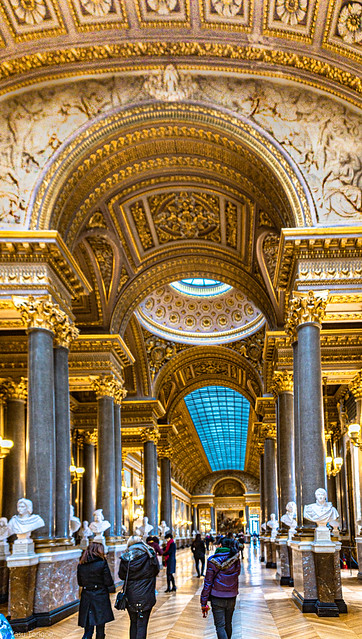 Artwork in the interior of Versailles, France-74a