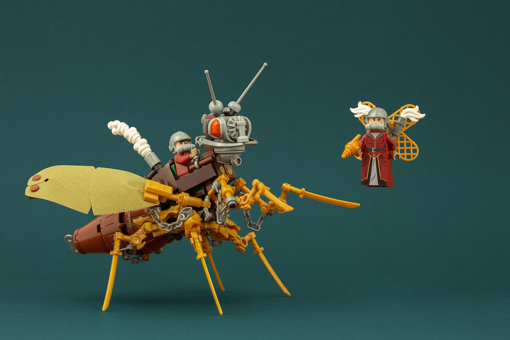 Geantelman & the Steam Wasp (custom built Lego model)
