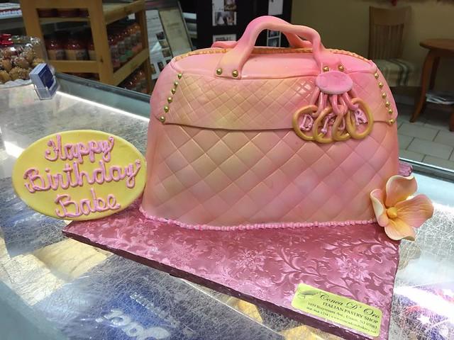 Dior Purse Cake by Conca D'Oro Italian Pastry Shop