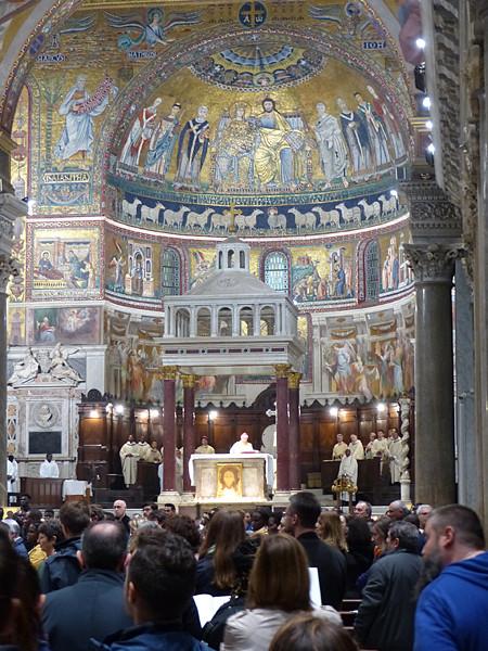 messe dans le Trastevere
