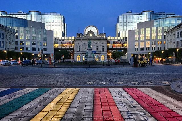 Glowing European Parliament