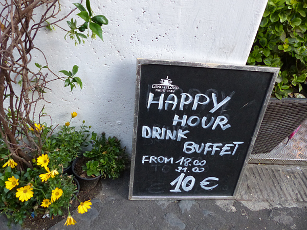 happy hour drink buffet