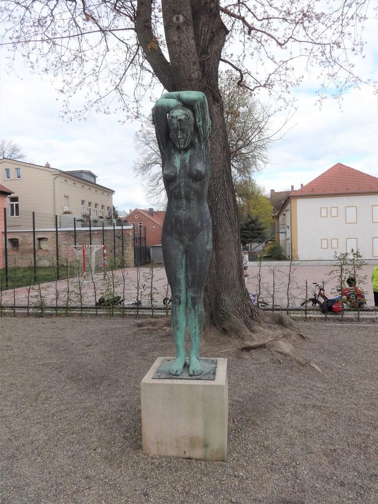 1918 Aschersleben Große Badende von Georg Wrba Bronze Bestehornpark Wilhelmstraße/Bestehornstraße in 06449