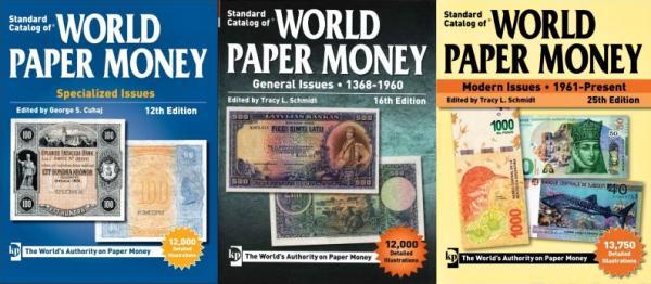 3 katalógy World Paper Money 1368-dnešok na DVD