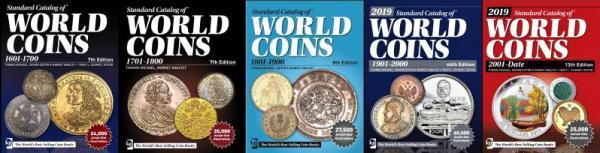 5 katalógov World Coins 1601-dnešok na DVD