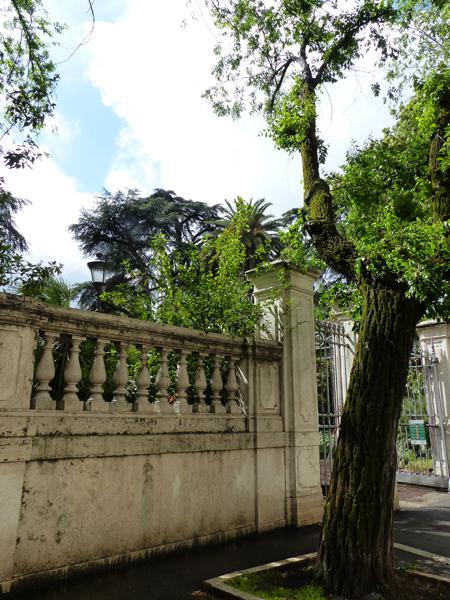 entrée jardin du QUirinal