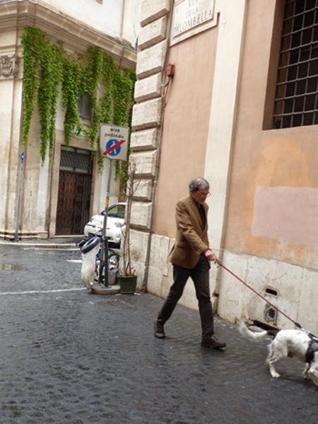l'homme au chien