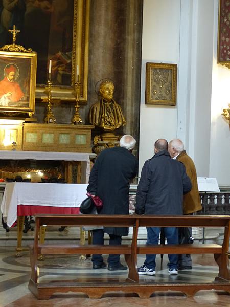 trois messieurs à Saint Ignace
