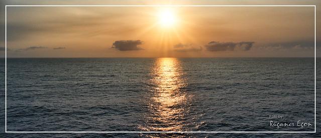 Abendsonne über die Biskaya