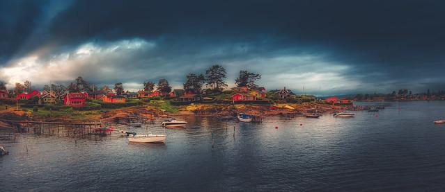 Lindøya island, Oslo, Norway