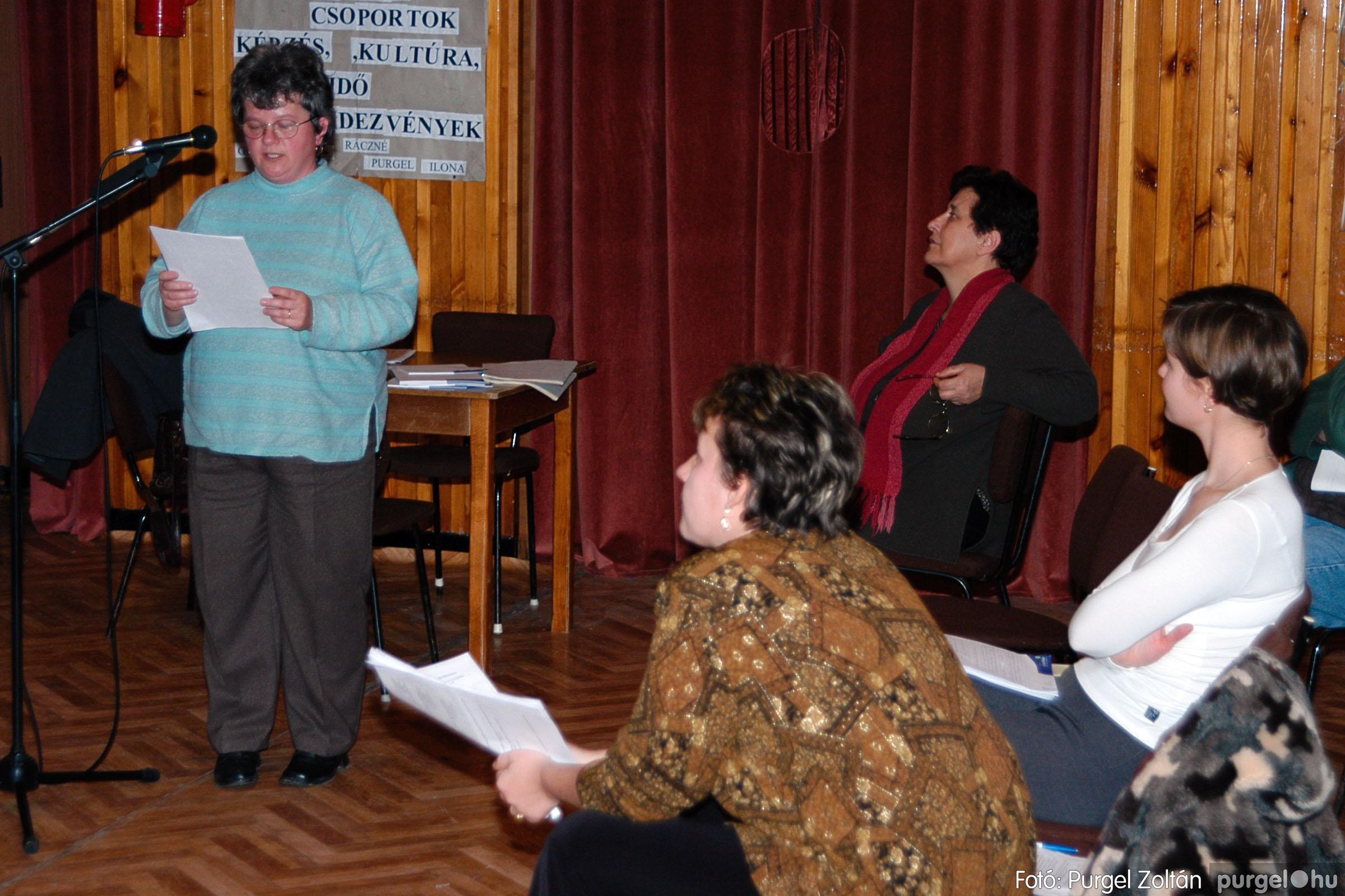 2004.01.13. 010 Szegváriak Szegvárért Közösségfejlesztők Egyesület beszámolója - Fotó:PURGEL ZOLTÁN© _0010q.jpg