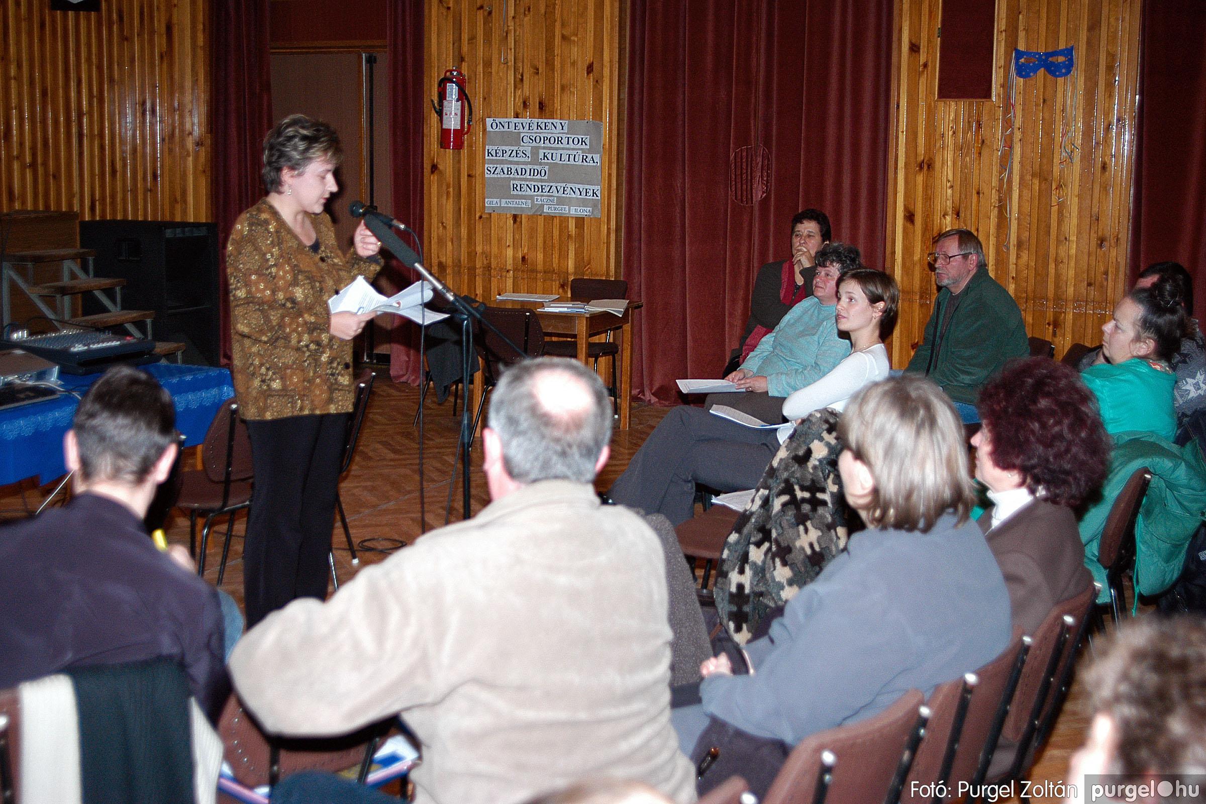 2004.01.13. 002 Szegváriak Szegvárért Közösségfejlesztők Egyesület beszámolója - Fotó:PURGEL ZOLTÁN© _0002q.jpg
